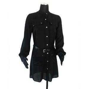 MICHAEL KORS Silk Belted Shirt Dress size: 4